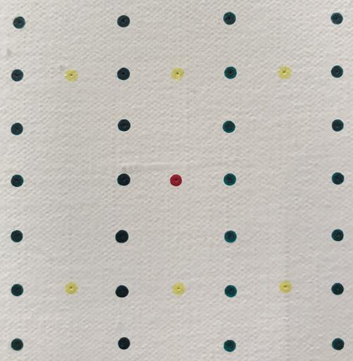Antonio SCACCABAROZZI - Painting - Prevalenze 1-7 div. 2. V.O. (Verso il nero), 1975