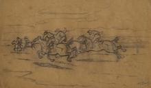 """Ferdinand MAY - 水彩作品 - Race"""" by Ferdinand May, ca 1930"""