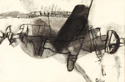 Maurice ESTEVE - Dibujo Acuarela - Composition, 1964