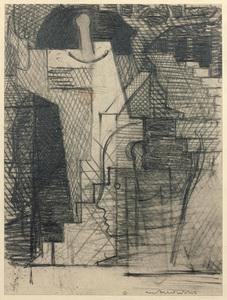 Louis MARCOUSSIS - Disegno Acquarello - Le jardin (Étude pour Aurélia)