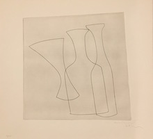 Ben NICHOLSON - Print-Multiple - Two Bottles and a Glass