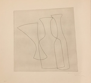 Ben NICHOLSON - Stampa Multiplo - Two Bottles and a Glass