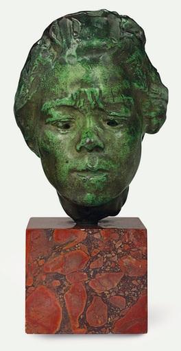 Auguste RODIN - Scultura Volume - Masque d'Hanako, étude type A, moyen modèle