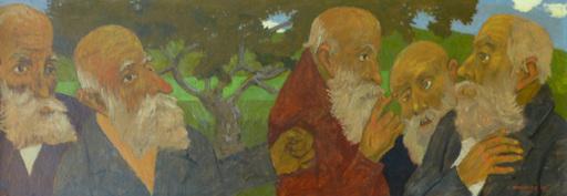 Grégoire MICHONZE - Painting - The Conversation