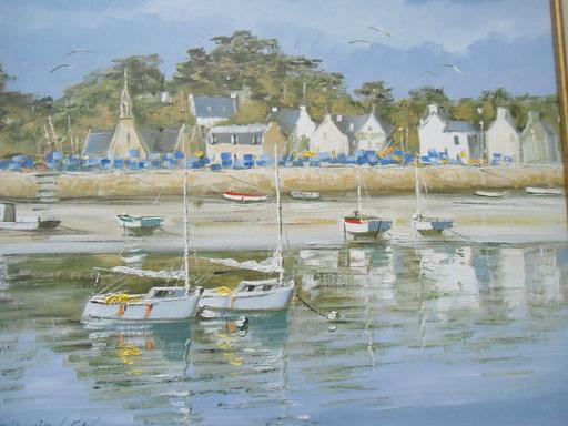 Christian DANIEL - Peinture - Le port de Longuivy de la mer.