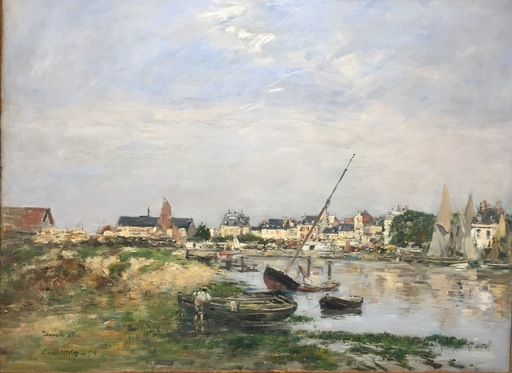 Eugène BOUDIN - Peinture - Trouville. Le Port