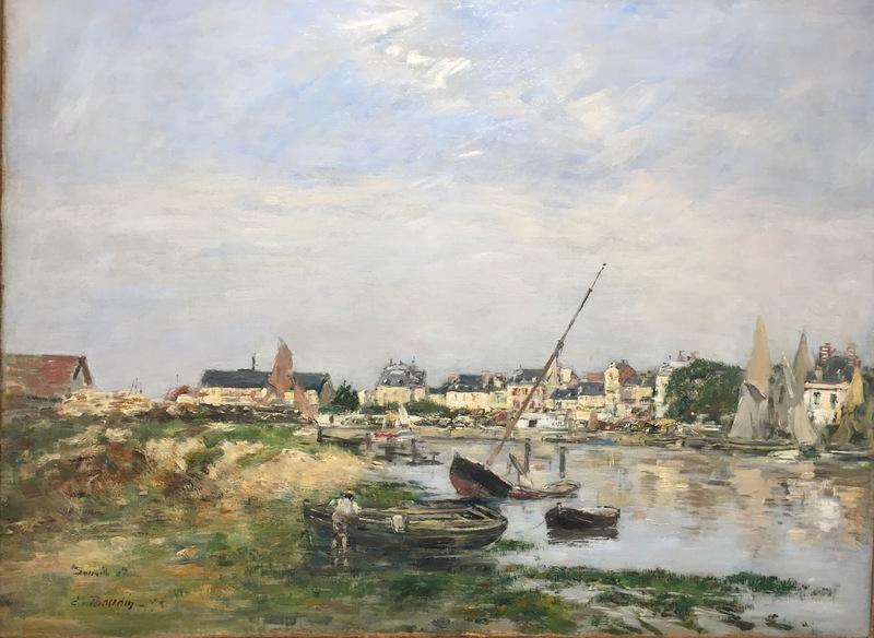 Eugène BOUDIN - Painting - Trouville. Le Port