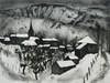 Jacques HALLEZ - Grabado - Soir d'hiver