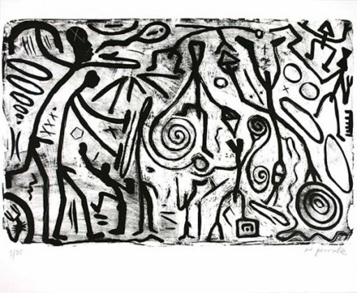 A.R. PENCK - Estampe-Multiple - ohne titel