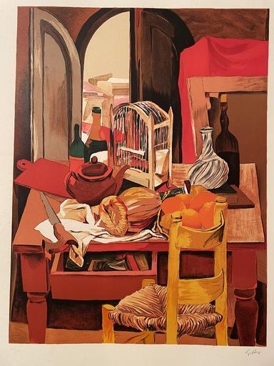 Renato GUTTUSO - Print-Multiple - Cucina con sedia