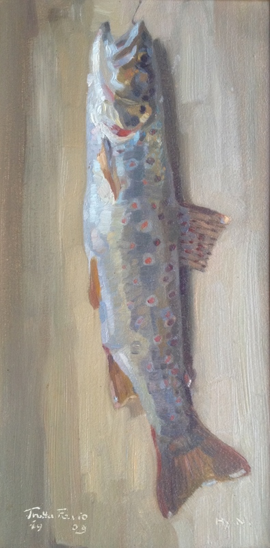 Henry NIESTLÉ - Pintura - Trutta Fario (Bachforelle)