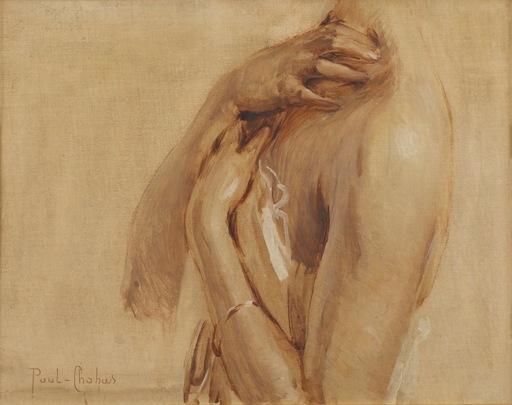 Paul Emile CHABAS - Peinture - Étude de buste féminin pour Jeune fille au bain