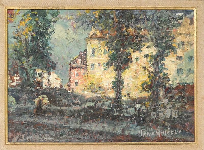 Merio AMEGLIO - Pittura - Vue de Paris