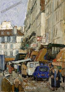 Marko STUPAR, Paris, Montmartre, La Rue Lepic