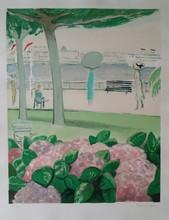 让-皮埃尔•卡西尼尔 - 版画 - Cannes aux hortensias 1980