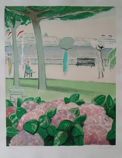 Jean-Pierre CASSIGNEUL - Estampe-Multiple - Cannes aux hortensias 1980