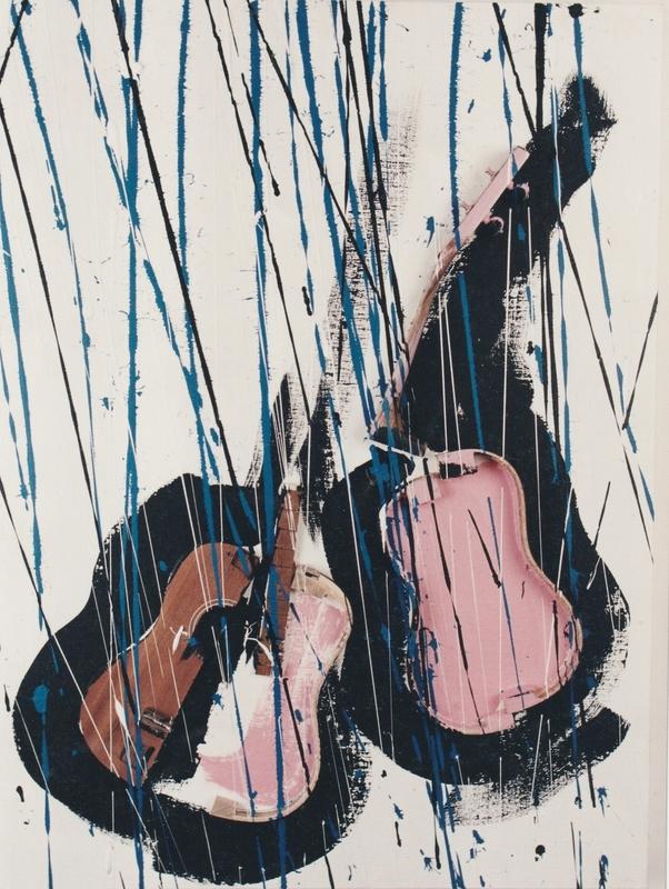 Fernandez ARMAN - Gemälde - YUKULELE DECOUPE'