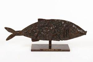 Georges BRAQUE - Sculpture-Volume - Poisson