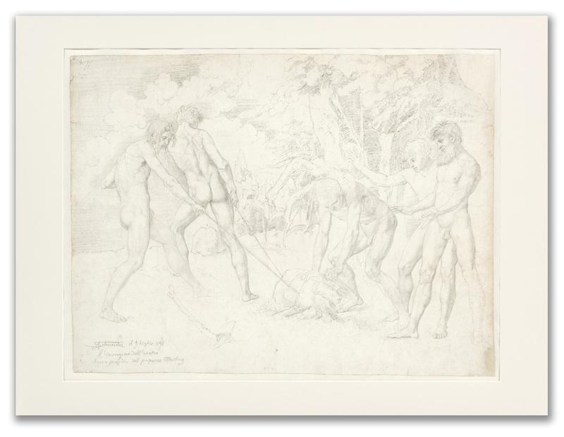 Sasha SCHNEIDER - Disegno Acquarello - The Invention of the Plough