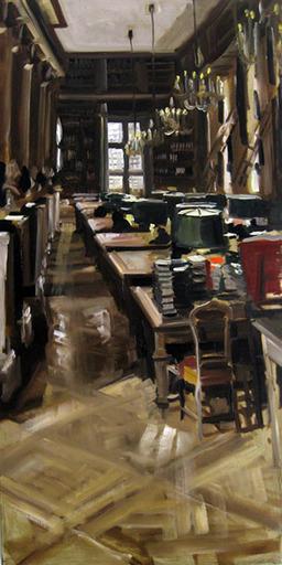 Christoff DEBUSSCHERE - Pintura - La bibliothèque
