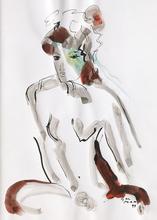 Ger MAAS - Drawing-Watercolor - Nu