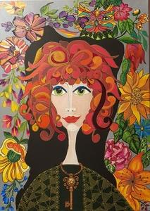 MIMI REVENCU - Painting - Anja