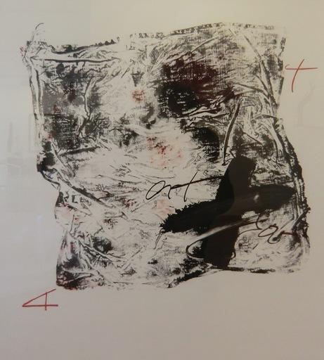 Antoni TAPIES - Print-Multiple - Mouchoir Noir