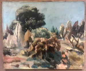 Léopold LÉVY - Pintura - Paysage de Provence