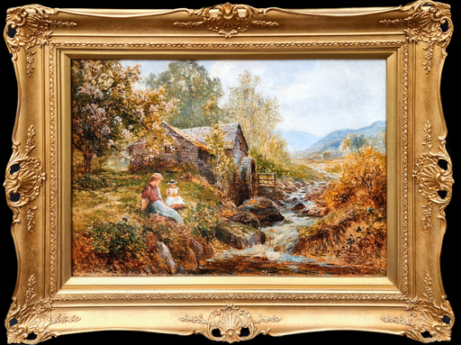 Ernest Charles WALBOURN - Pittura - Along the Stream (Pair)