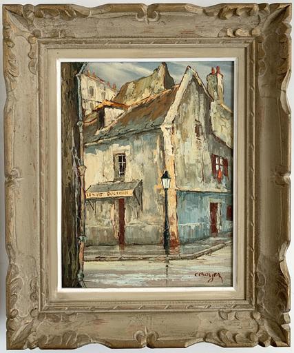 André BOYER - 绘画 - Le tire-bouchon, Montmartre