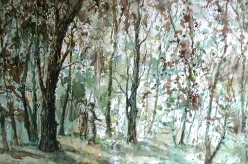 U LU TIN - Drawing-Watercolor - thanaka forest
