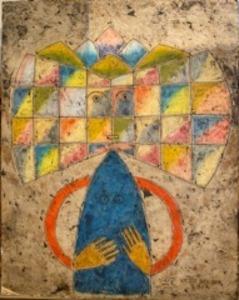 Victor BRAUNER - Peinture - Composition 1957