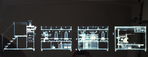 Wim DELVOYE - Fotografie - Cloaca x rayed B/W