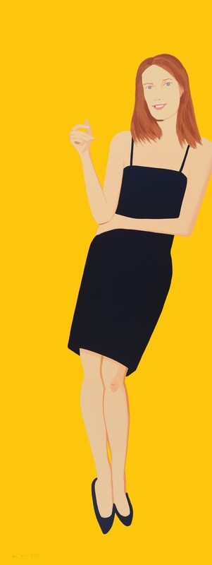 Alex KATZ - Grabado - Black Dress - Sharon