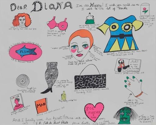 Niki DE SAINT-PHALLE - Estampe-Multiple - Dear Diana I'm so happy