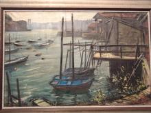 Manuel MAMPASO BUENO - Pintura - Vista de Pasaia / Pasajes