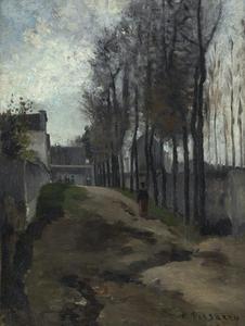Camille PISSARRO - Gemälde - Le Chemin, Paysage Hivernal
