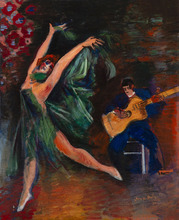 Jean DUFY - Pintura - La danse