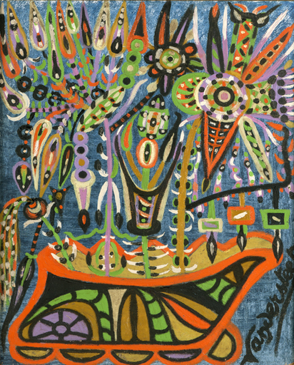 Germain VANDERSTEEN - Pintura - Fleurs imaginaires
