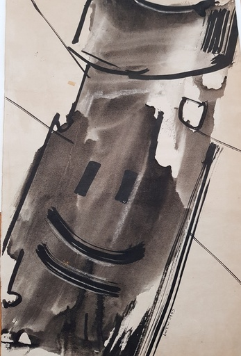 Gianni BERTINI - Drawing-Watercolor - Senza Titolo