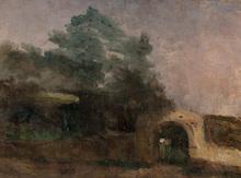 保罗•塞尚 - 绘画 - Paysage avec Passage Voute