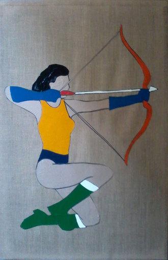 Marco LODOLA - Painting - Tiro con l'arco