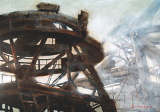 Patrick BASTARDOZ - Pintura - Grues