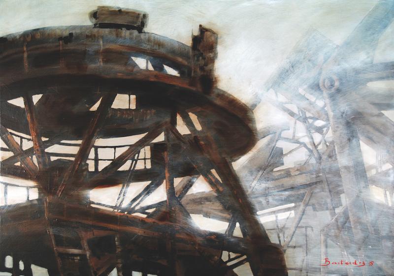 Patrick BASTARDOZ - Peinture - Grues