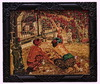 Adrien Jean LE MAYEUR DE MERPRES - Pintura - Picking and Gathering Flowers in The Lush Garden