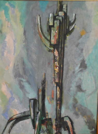 Alexander BENOIS DI STETTO - Painting - Strukturen structure
