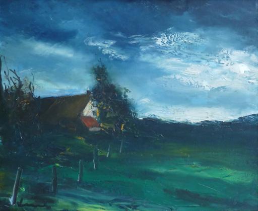 莫里斯•德•弗拉芒克 - 绘画 - Landscape in Normandy