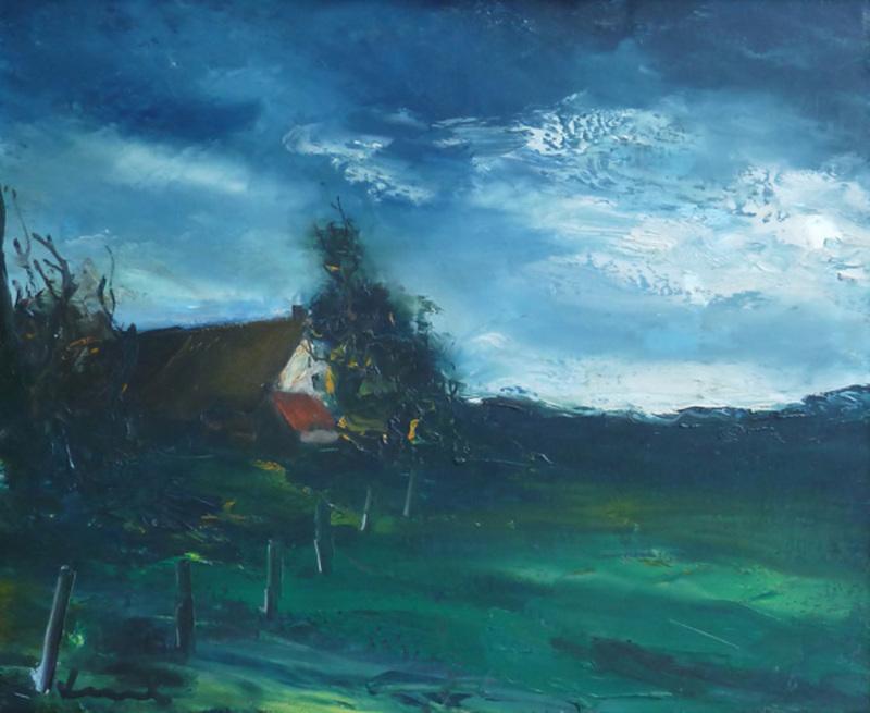 Maurice DE VLAMINCK - Pittura - Landscape in Normandy