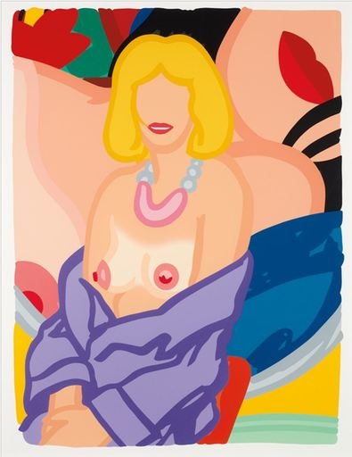 Tom WESSELMANN - Print-Multiple - Claire Sitting with Robe Half Off (Vivienne)
