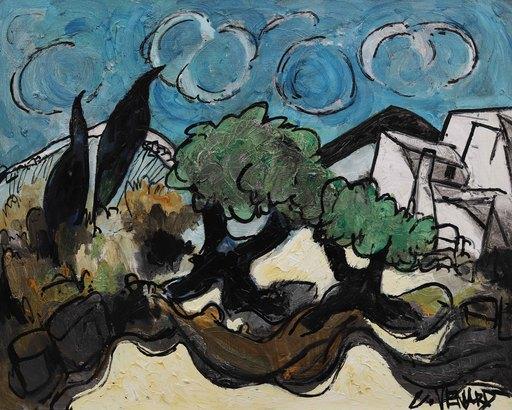 Claude VENARD - Gemälde - Oliviers dans les Alpilles